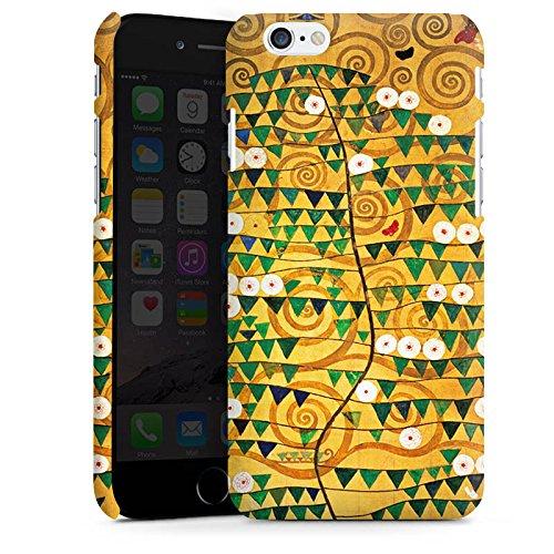Apple iPhone SE Tasche Hülle Flip Case Klimt Tree of Life Kunst Premium Case matt