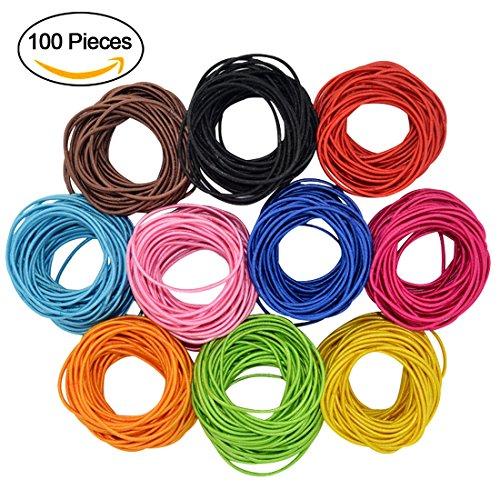 hollihi 100PCS Boutique Baby Mädchen Haargummis–dehnbar Elastic Haar Seilen Gummi Bands-Styling-Zubehör für Kleinkinder Kids Teens 10Farben X 10