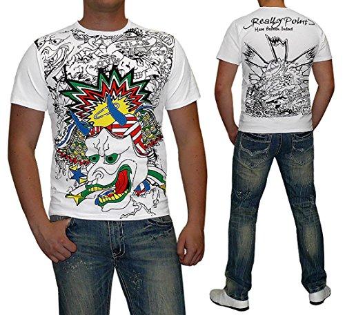 S&LU super modernes Herren T-Shirt mit absolut angesagtem Print Gr.: S-XXL Grün