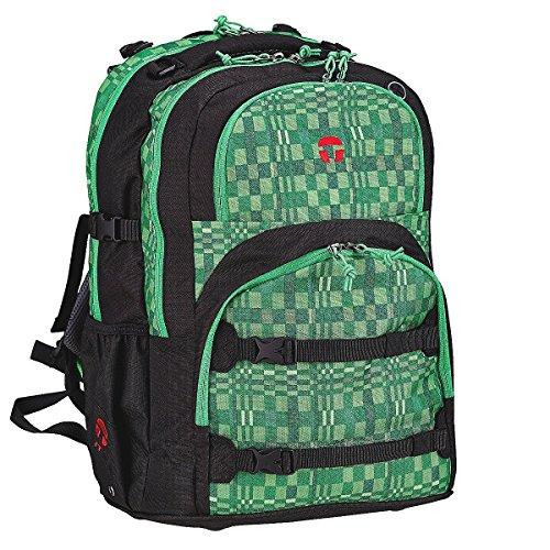 Take It Easy Schulrucksack OSLO-FLEX Fresh 503170 schwarz grün
