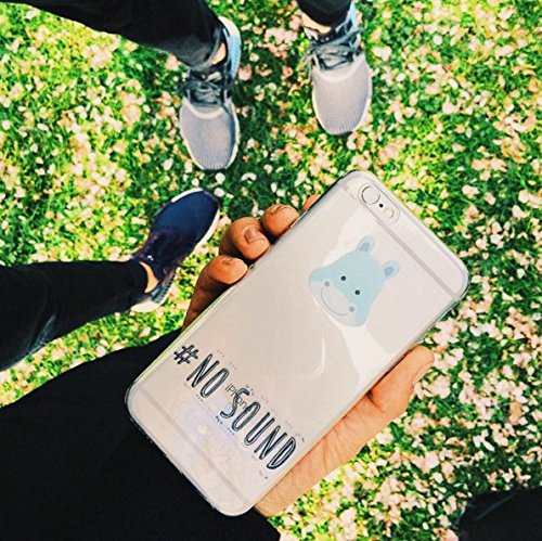"licaso® iPhone 6 6S 4,7"" TPU Tierchen Panda Hülle Sketch Unicorn Case transparent klare Schutzhülle Disney Hülle iphone6 Tasche Cover (iPhone 6 6S 4,7"", Tierchen Panda) Tierchen Nilpferd"