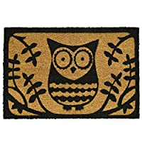 ASAB Front Welcome Door Coir Mat - Absorbent Non Slip Coco Doormat - Entrance Coconut Matting in with Rubber Backing - 60x40cm - Rug