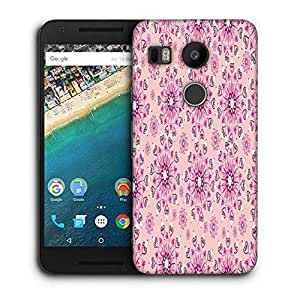 Snoogg Pink Pattern Designer Protective Phone Back Case Cover For LG Nexus 5X