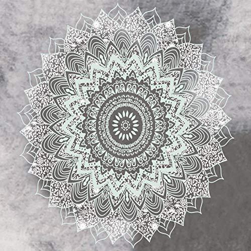 xkjymx Hängetuch Dekotuch Mandala Blumenmuster Tapisserie Bild 1 100x75cm (Sahne Quadratischen Tischdecken)