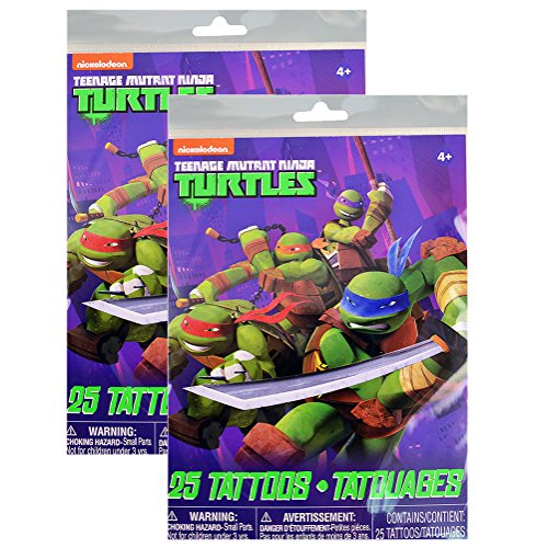 (Teenage Mutant Ninja Turtles Temporary Tattoos - 25 Count)