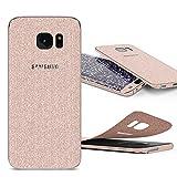 Urcover Glitzer-Folie zum Aufkleben | Samsung Galaxy S7 Edge | Folie in Champagner Gold | Zubehör Glitzerhülle Handyskin Diamond Funkeln Schutzfolie Handy-schutz Luxus Bling Glamourös
