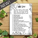 I Spy Camera Selfie Game - 10 Pack - Wedding Cards - Flower Leaf Design - Favours