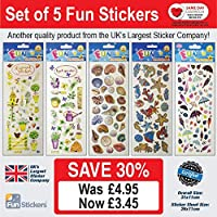Fun Stickers Seasons: Set of 5 - 608, 609, 913, 834, 723