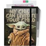 Grupo Erik - CBK0073 Carpeblock 4 anillas Baby Yoda - The Mandarlorian, Star Wars, A4 (26x32 cm), Carpeta 4 Anillas Con Recam