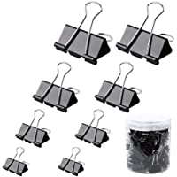 60 Pack Metal Bulldog Clips Large Paper Clips 4 Sizes Bulldog Clip 32mm 25mm 19mm 15mm Foldback Clips Clamp Binder Clips…