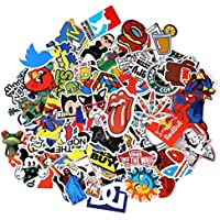 Sticker Pack 100-Pcs,Neuleben Sticker Decals Vinyls for Laptop,Kids,Cars,Motorcycle,Bicycle,Skateboard Luggage,Bumper Stickers Hippie Decals bomb Waterproof … (sticker-1)