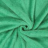 Fabulous Fabrics Teddy Plüsch Kuschel grün — Meterware