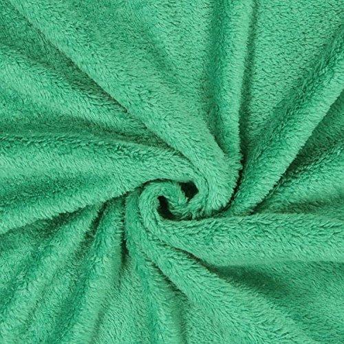 Fabulous Fabrics Teddy Plüsch Kuschel grün - Meterware ab 0,5m - zum Nähen von Jacken, Accessoires und Pullover