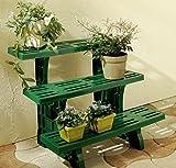UPP® Pflanzbank/ Blumenregal/ Blumentreppe/ Blumenständer/ Blumenleiter/ Pflanzentreppe/ Pflanzenständer/ Blumenbank/ Blumenhocker (3 stufig)