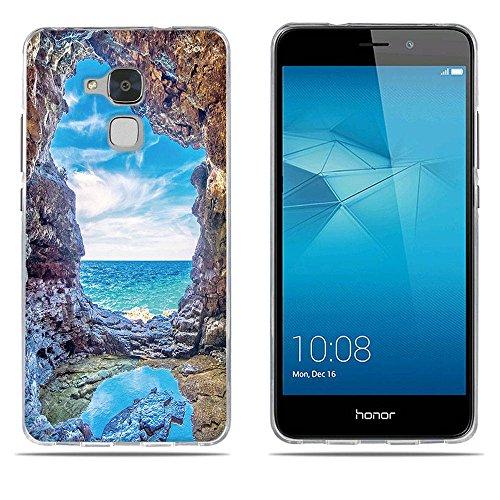DIKAS Handyhülle für Huawei Honor 5C, Hülle für Huawei Honor 7 Lite, TPU Handyhülle Handycover Bumper Fall Euit für Huawei Honor 5C / Huawei Honor 7 Lite- Pic: 08