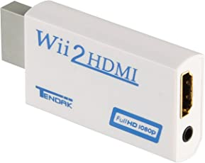 Tendak Wii To Hdmi Converter Output Video Audio Adapter Supports All Wii Display Modes To 720 P / 1080 P Hdtv & Monitor