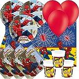 ULTIMATE SPIDERMAN WEB WARRIORS Pack fiesta para 8 - Platos, tazas, Servilletas, GLOBOS Y Mantel