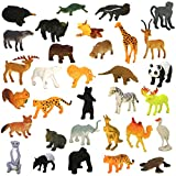 Enlarge toy image: Animals Figure,54 Piece Mini Jungle Animals Toys Set,Zoo World Realistic Wild Vinyl Pastic Animal Learning Resource Party Favors Toys For Boys Kids Toddlers Forest Small Farm Animals Toys Playset