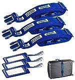 PEARL Koffer-Spanngurte: Stabiler Gepäck- & Koffergurt (5 x 200cm) mit Kofferanhänger, 3er-Set (Sicherheitsband für Koffer)