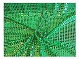 Fabrics-City GRÜN HOCHWERTIG PAILETTEN STOFF PAILLETTENSTOFF 6MM STOFFE, 2436