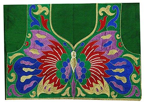 Bordado de diseño de mariposa de cuello de parche de costura White Appliqués Craft vestido de parche