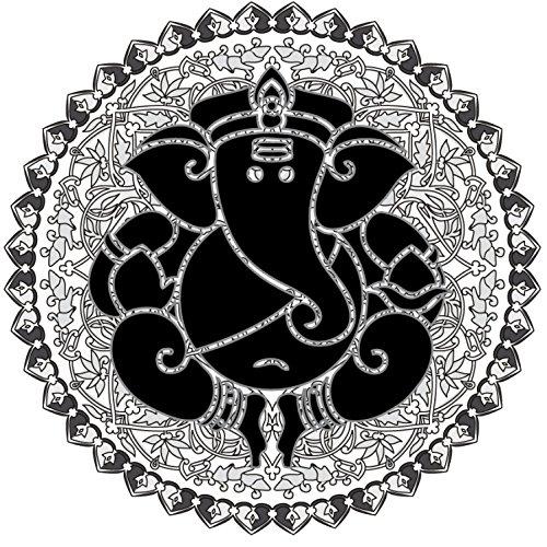 1art1® Espiritualidad - Ganesha, El Dios Elefante Vinilo Decorativo Pegatina Autoadhesivo (9 x 9cm)