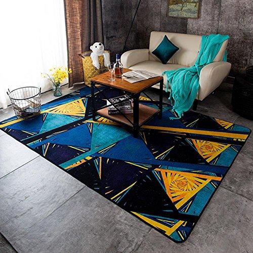 Tappeto moderno geometria del blocco Art Home Tavolino Pad Soggiorno tappetino da letto Ufficio , (Tappeti America Del Blocco)