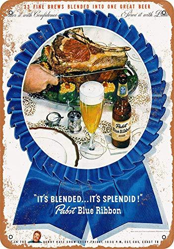 Pabst Blue Ribbon Beer Blechschilder Aluminium Schilder Eisen Malerei Blech Plakat Warnung Plakette hängende Kunst Plakate Dekorative Cafe Bar
