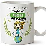 MUGFFINS Tazza Cugina -Famiglia Mondo -Idee Regali Divertenti e Originali -Tazze di Caffè eTè -