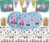 Neue Peppa Pig Party Supplies Kindergeburtstag Party Kit Einweg Deluxe Party Geschirr für 16 Personen- Einweg