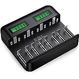 EBL Batteriladdare – snabb batteriladdare för AA AAA C D NI-Mh batteri med typ C Input – snabb laddning, automatisk identifie