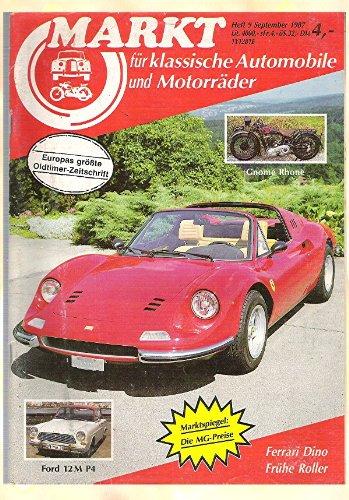 Markt für klassische Automobile und Motorräder - Europas größte Oldtimer-Zeitschrift, Heft 9 September 1987 (Ferrari Sammlerstücke)