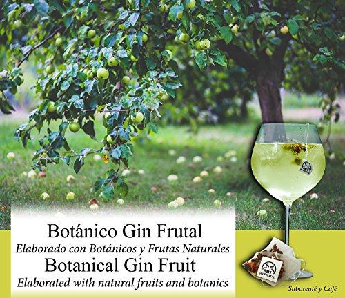 Saboreateycafe Botánicos 24 uds de Ginebra Premium Frutal. Elaborado en pirámide para aromatizar tu cóctel Gin-Tonic. Té GinTonic 100% con aroma natural. Set sabor a frutas en especias e infusiones.