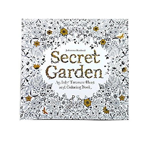 Erwachsene Malbuch,LCLrute 2017 Spaß Erwachsene Färbung Buch Entwürfe Stress Relief Malbuch Secret Garden
