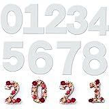 Kaishengyuan 9PCS Moules à Gâteau, Moule Number Cake pour la cuisson gâteaux en forme de chiffres 0–9 Moules,pour Crème de Gâ