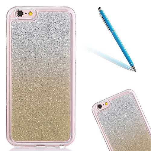 "Translucide Cover avec Kickstand Ring pour Apple iPhone 5G/5s/SE 4.0"", CLTPY Soft Gomme Shell dans Scintillate Glint Motif Antipoussière Anti-rayures Ultra Mince Léger Fit pour iPhone 5G,iPhone 5s,iPh Or"