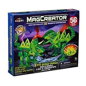 Magtastix 35912 Dino Magcreator 2 en 1 - Imanes de Dino, Multicolor