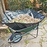 Ribiland 07994 Sacco Carrello con 4 manici, 300 L, Colore Verde