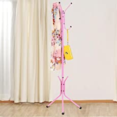 Styleys Wrought Iron Coat Rack Hanger Creative Fashion Bedroom for Hanging Clothes Shelves, Wrought Iron Racks Standing Coat Rack