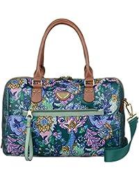 Oilily French Paisley M Boston Bag Emerald