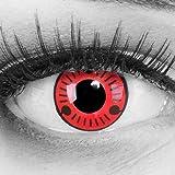 Meralens Lenti a Contatto Colorate Sasuke Naruto rosso nero - Heroes Of Cosplay con porta lenti a contatto - Durata 1 Anno -