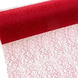 Spiderweb - Mesch - Tischläufer - Tischband - 30cm rot - Rolle 25m - 67 009-R 300