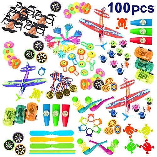 Spielzeug für 3-12 jährige Jungen Mädchen, TOPTOY 100 STÜCKE Birthday Party Favors Taschen für Kinder Fun Geschenke für Jungen Mädchen Alter 3-12 Karneval Preise Goodie Bags Spielzeug für Kinder TTPD1
