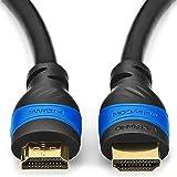 deleyCON 10m Cavo HDMI Compatibile con HDMI 2.0a/b/1.4a - 4K UHD 2160p (4096x2160 Pixel) Full HD HDTV 1080p HDCP Dolby Ethern