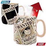 One Piece - Wanted - Farbwechsel-Tasse 460 ml | Original Manga Anime