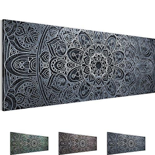 Bilder 110 x 40 cm - Mandala Bild - Vlies Leinwand - Kunstdrucke -Wandbild - XXL Format - mehrere Farben und Größen im Shop - Fertig Aufgespannt - Orient Abstrakt 109411c