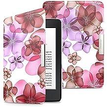 MoKo Kindle Paperwhite Funda - Premium Ultra Ligera ( Auto - Sueño / Estela ) Lightweight Shell Cover Case para Amazon All-New Kindle Paperwhite (Apta 2012, 2013, 2015 y 2016 Versiones), Floral Morado