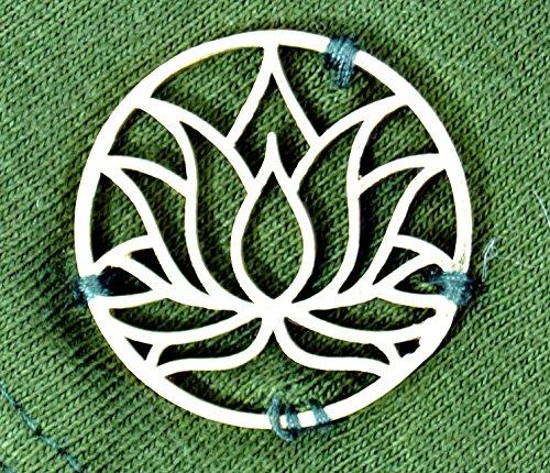 Guru-Shop Psytrance Minirock, Elfenrock, Goa Rock, Yoga Rock Lotus, Damen, Baumwolle, Kurze Röcke Alternative Bekleidung Grün