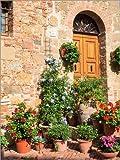 Poster 30 x 40 cm: Hauseingang in Monticchiello von Julie