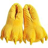 Aivtalk - Zapatillas Franela Suave Cálido Disfraz Garra de Animal de Pata Otoño Invierno Slipper Disfraz Cosplay Para Casa Fe
